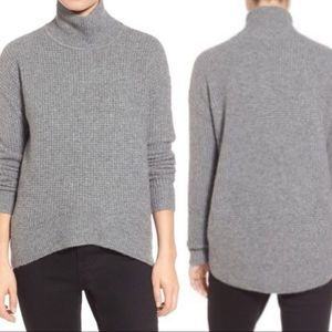 Madewell Grey Wafflestitch Turtleneck Sweater